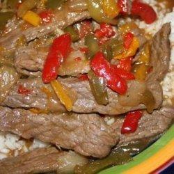 Pepper Steak Stir-Fry recipe