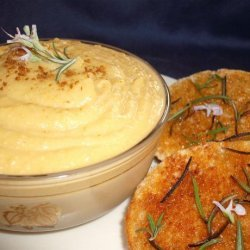 Jerusalem Artichoke Hummus With Rosemary Bruschetta recipe