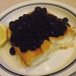 Baked Blintzes With Fresh Blueberry Sauce recipe