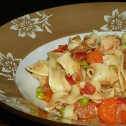 Slow Cooked Italian Chicken With Noodles recipe