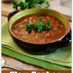 Slow Cooker Ham and Beans recipe