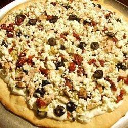 Greek Tzatziki Chicken Pizza #RSC recipe