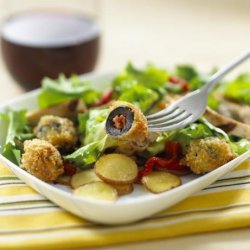 Grilled Chicken Salad With Chorizo-Stuffed Olives in Citrus Vina recipe