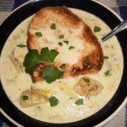 Savory Potato Leek Soup recipe