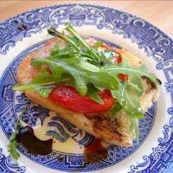 Toasted Tomato Salad With Blue Cheese and Rocket recipe