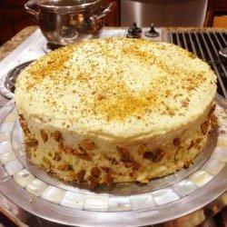 Pistachio Cake With White Chocolate Buttercream recipe