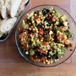 Cousin Annie's Chick Pea and Chorizo Summer Salad recipe