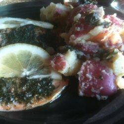 Salmon With Potato and Watercress Salad recipe