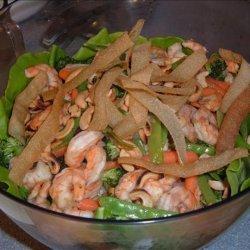 Newman's Own Sesame Ginger Shrimp Salad recipe