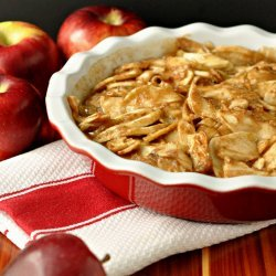 Crustless Apple Pie recipe