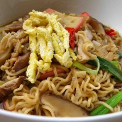 Grandma's Souped up Ramen Noodle Soup recipe