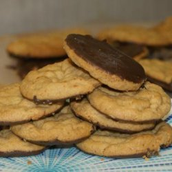Gluten Free Peanut Butter Cookies Dipped in Chocolate recipe