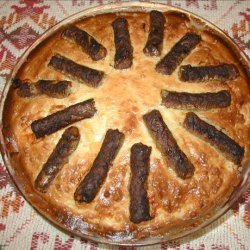 Wagon Wheel Sausage Pie recipe