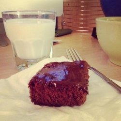 Easy Frosted Dark Chocolate Brownies With Mocha Frosting recipe