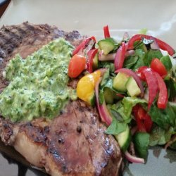 Grilled Flank Steak With Green Onion-Ginger Chimichurri recipe
