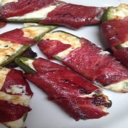 Turkey Bacon Wrapped Jalapeno Pepper Poppers recipe