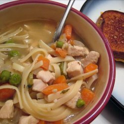 Low Fat Chicken Noodle Soup for 2 recipe