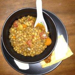 Slow Cook Lentil-Sweet Potato Soup recipe