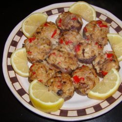 Crab and Spinach Stuffed Mushrooms recipe