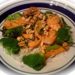 Salmon Stir Fry With Dill and Green Onion recipe