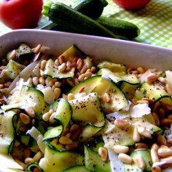 Simple and Healthy Zucchini Salad With Pine Nuts recipe