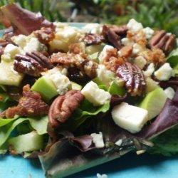 Apple Gorgonzola Salad With Balsamic Vinaigrette recipe