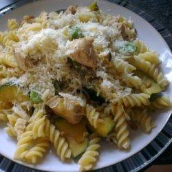 Lemony Fusilli With Chicken, Zucchini, and Pine Nuts recipe