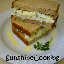 Solar Cooked Moroccan Egg Salad Sandwich Hold the Mayo recipe