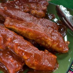 The Most Tender Country Style Honey BBQ Ribs recipe
