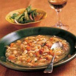 Tuscan White Bean Soup With Prosciutto recipe