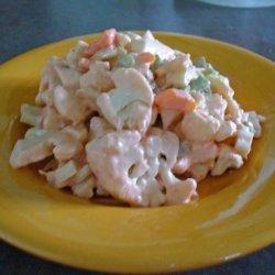 Cauliflower Crunch Salad With a Taste of Catalina recipe
