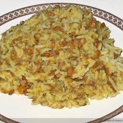 Baked Garlic Rice Pilaf recipe