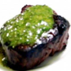 Grilled Steak With Cilantro Sauce recipe