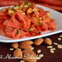 Carrot Almond Salad recipe