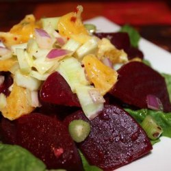 Sweet Sauteed Beets With an Orange, Onion & Fennel Relish recipe