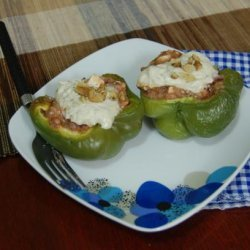 Stuffed Bell Peppers With Creamy Walnut Sauce recipe