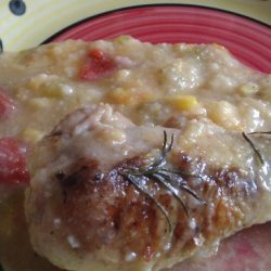 Baked Rosemary Chicken With Polenta #RSC recipe