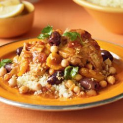Chicken Tagine With Chickpeas and Mint recipe
