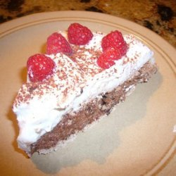 Chocolate Pavlova With Raspberries and Cream recipe