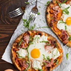 Ham and Egg Pizza recipe