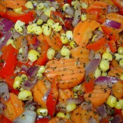 Sauteed Corn, Carrots, Onion, and Red Bell Pepper recipe
