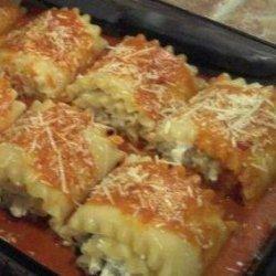 Chicken & Cheese Lasagna Roll-Ups recipe