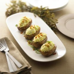 Twice Baked Potatoes With Alouette Cheese recipe
