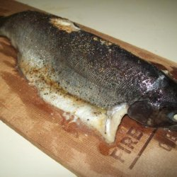 Plank Baked Rainbow Trout recipe