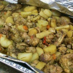 Jamaican Brown Stew Potatoes and Chicken for a Crowd recipe