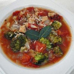 Broccoli, Tomato and Chicken Soup recipe