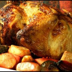 Lemon-Herb Chicken With Roasted Vegetables and Walnuts recipe