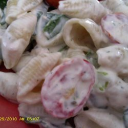 Salmon Shell Pasta Salad recipe
