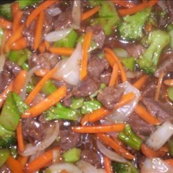 Oriental Style Beef Tips and Veggie Stir Fry recipe