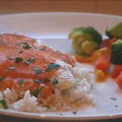 Red Snapper With Red Curry Carrot Sauce for Two recipe